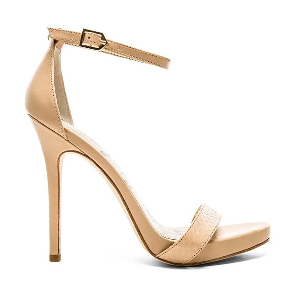 Sam Edelman Eleanor heel in beige - Leather upper with man made sole. Heel measures approx...