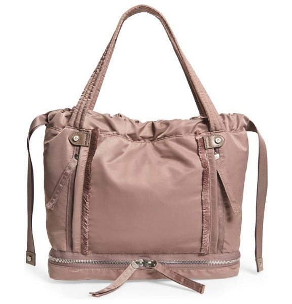 Sam Edelman emilee tote in taupe - A roomy tote with frayed trim features a slouchy...