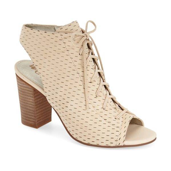 Sam Edelman ennette perforated lace up bootie in summer sand leather - A slingback bootie balances vintage and modern...