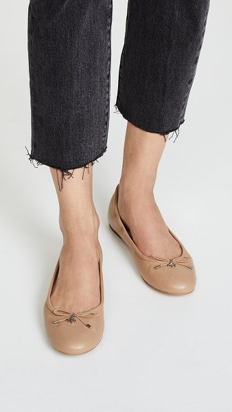 Sam Edelman felicia ballet flats in classic nude - A bow and logo charm add a sweet touch to classic...