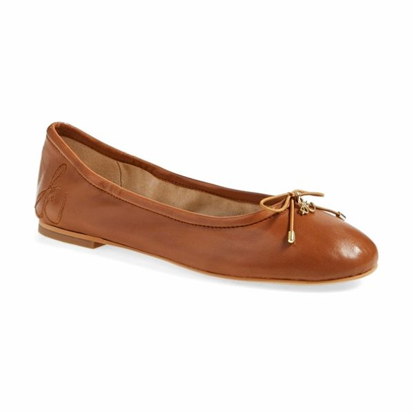 Sam Edelman 'felicia' flat in saddle leather