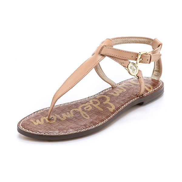 Sam Edelman Galia thong sandals in natural naked - These Sam Edelman thong sandals have a textured footbed...