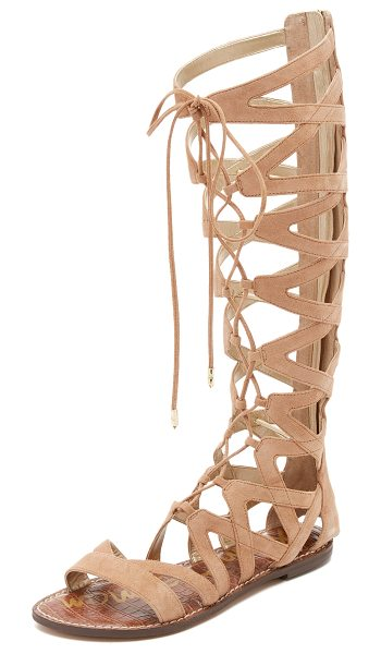 Sam Edelman Gena tall gladiator sandals in camel - Suede Sam Edelman gladiator sandals in a knee high...