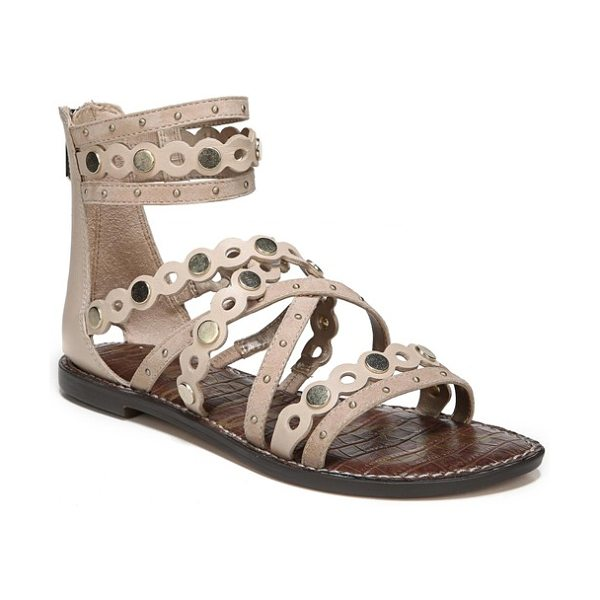SAM EDELMAN geren sandal - Gleaming dome and disc studs detail a chic sandal in a...