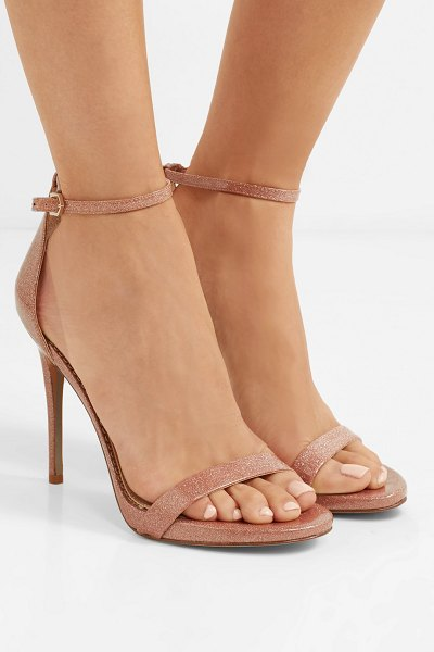 Sam Edelman glittered vinyl sandals in neutral - Sam Edelman's sandals should have a spot in your party...