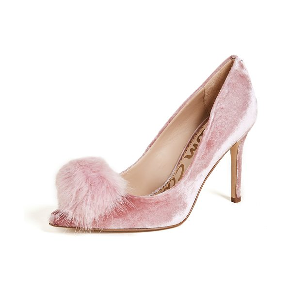 Sam Edelman haroldson pumps in faded rose - Chic Sam Edelman velvet pumps, accented with faux-fur...