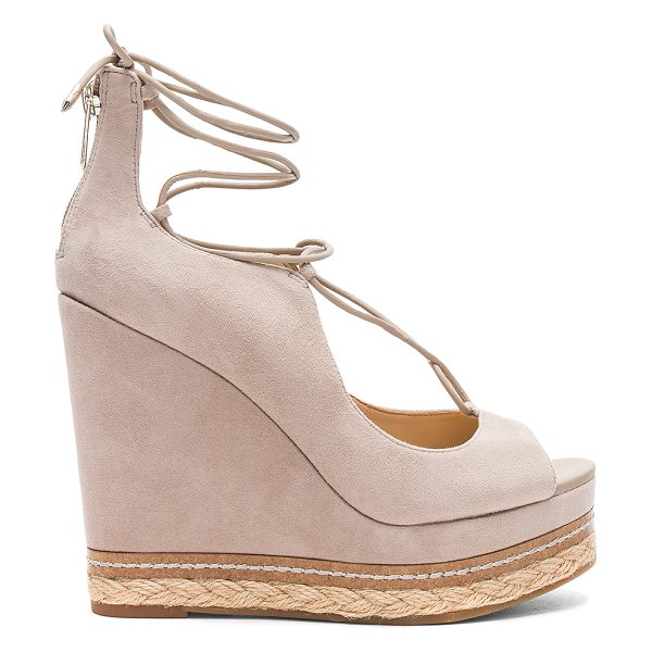"SAM EDELMAN Harriet Heel - ""Suede upper with man made sole. Back zip closure. Lace-up..."