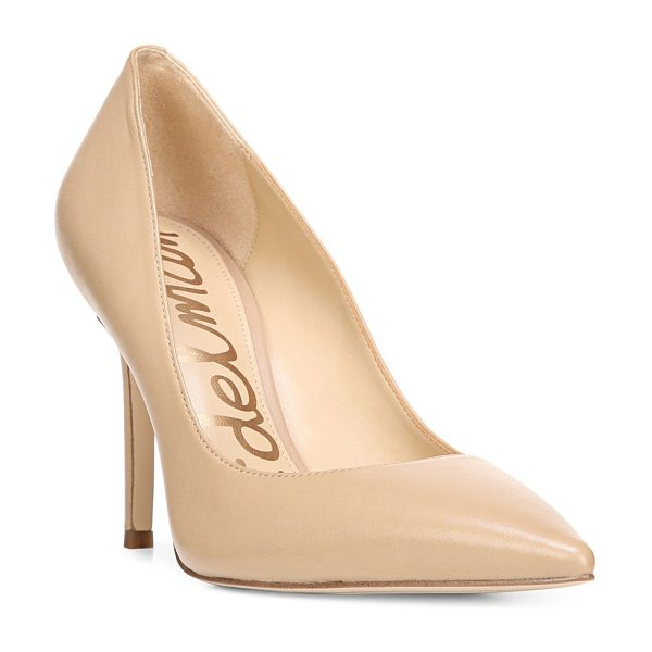 Sam Edelman hazel leather pumps in nude - A pair of leather pumps evokes feminine charm....
