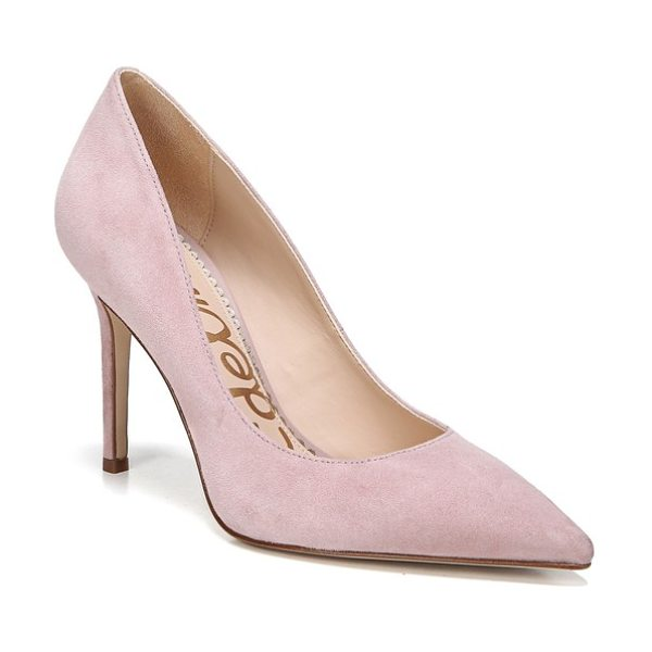 Sam Edelman hazel pointy toe pump in pink/ mauve suede - A classic stiletto adds leg-lengthening lift and...