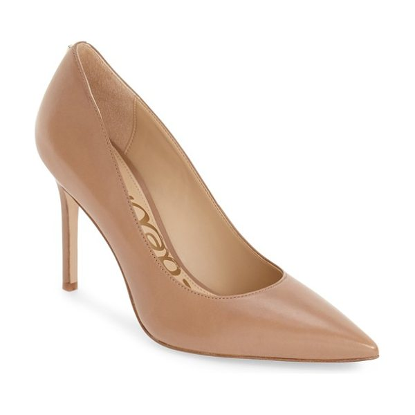 Sam Edelman hazel pointy toe pump in golden caramel leather - A classic stiletto adds leg-lengthening lift and...