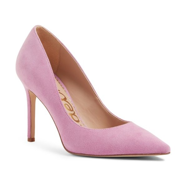 Sam Edelman hazel pointy toe pump in pink - A classic stiletto adds leg-lengthening lift and...