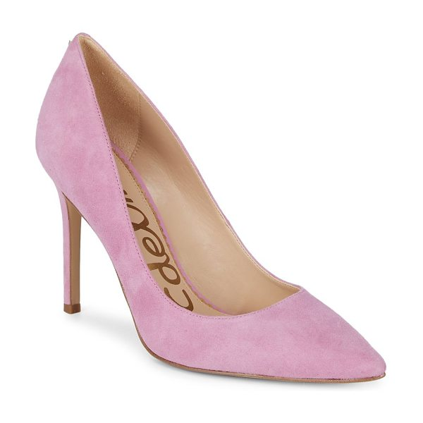 "Sam Edelman hazel suede pumps in pink - On-trend pumps refined with suede. Self-covered heel, 4""..."