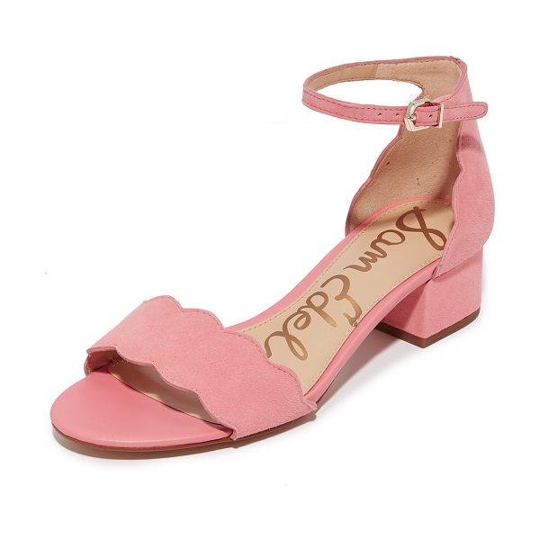 SAM EDELMAN inara city sandals - Scalloped edges adds a feminine touch to these suede Sam...