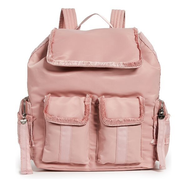 Sam Edelman janelle large backpack in pink mauve - Fabric: Soft technical weave Magnetic closure at top...