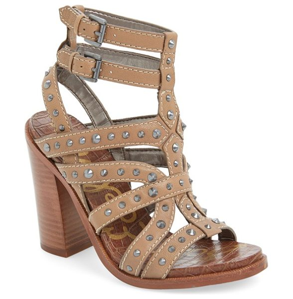 SAM EDELMAN keith studded sandal - Polished cone studs play up the edgy attitude of a...