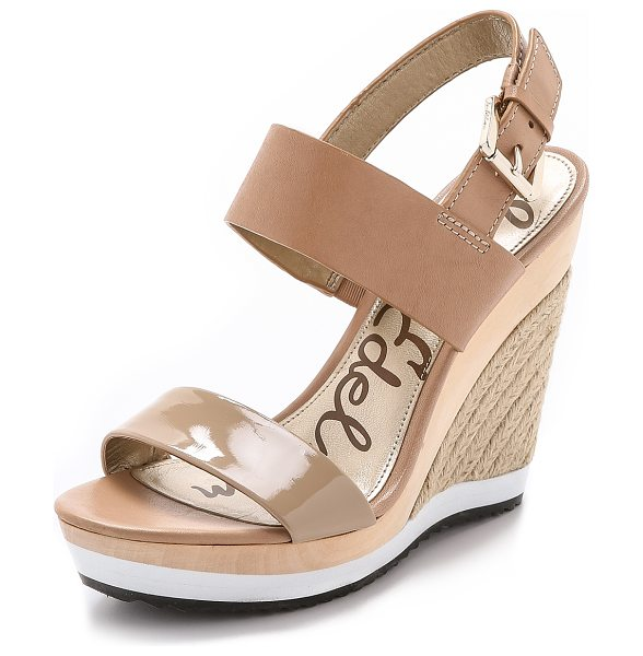 Sam Edelman Korinne espadrille wedges in classic nude - Mixed materials bring unique contrast to these Sam...