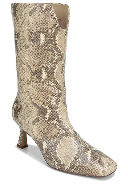 Sam Edelman lolita square toe boot in beige