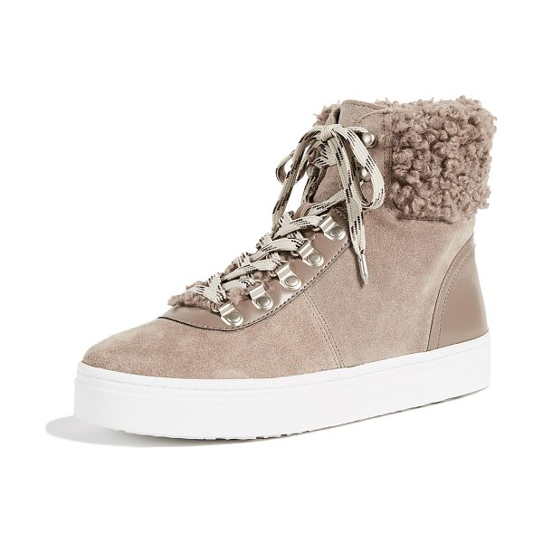 Sam Edelman luther high top sneakers in new putty - Hiking-boot inspired Sam Edelman high-top sneakers...