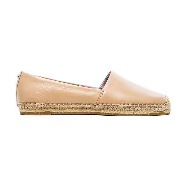 Sam Edelman Lynn flat in beige - Leather upper with jute and rubber sole. Slip-on...