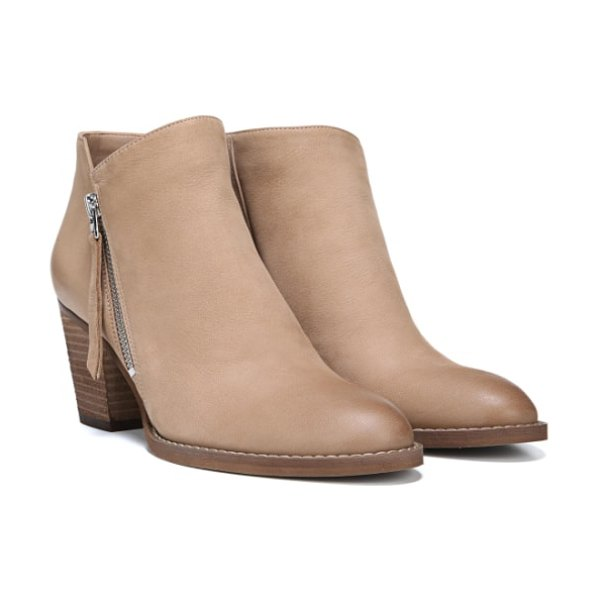 Sam Edelman macon bootie in beige - Subtle weathering adds a bit of rugged style to this...