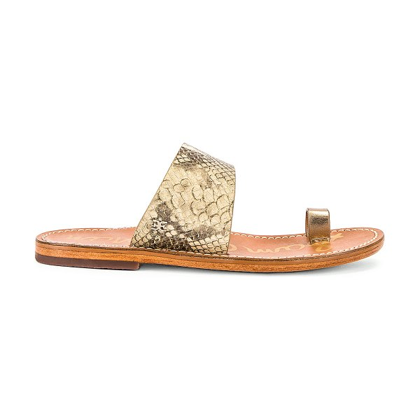 Sam Edelman maxy sandal in wheat multi & dark molten gold