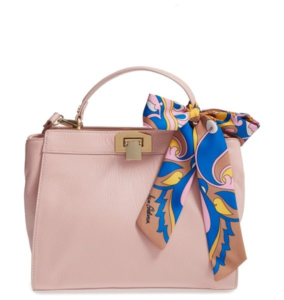 Sam Edelman melanie calfskin satchel in rose shadow - Made from the softest pebbled calfskin, this...