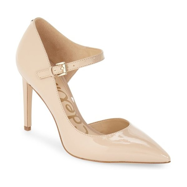 SAM EDELMAN 'nora' half d'orsay pump - A slender mary-jane strap adds a touch of vintage...