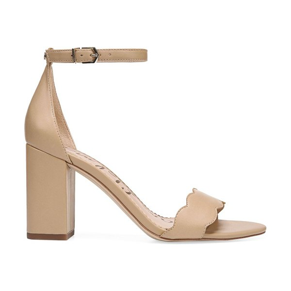 Sam Edelman odila scallop leather sandals in classic nude