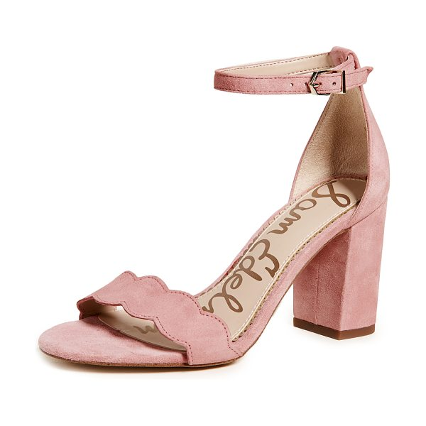 SAM EDELMAN odila sandals - Leather: Kidskin Pumps Chunky heel Buckle at ankle Open toe...