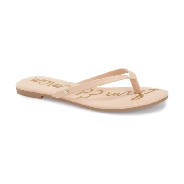 Sam Edelman oliver flip flop in soft nude - Slim straps top a cute flip-flop perfect for showing off...