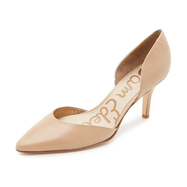 SAM EDELMAN Opal dorsay pumps - Clean lined Sam Edelman d'orsay pumps in smooth leather....