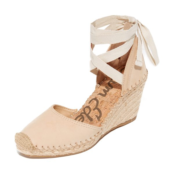 Sam Edelman patsy espadrille wedges in summer sand - Espadrille-inspired Sam Edelman sandals, styled with a...