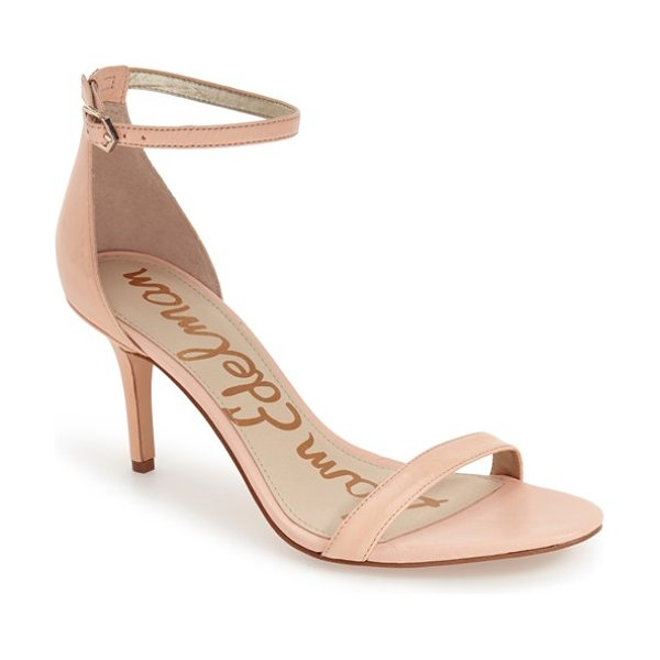 Sam Edelman patti ankle strap sandal in soft nude leather - Achieve a barely there, leg-lengthening look in these...