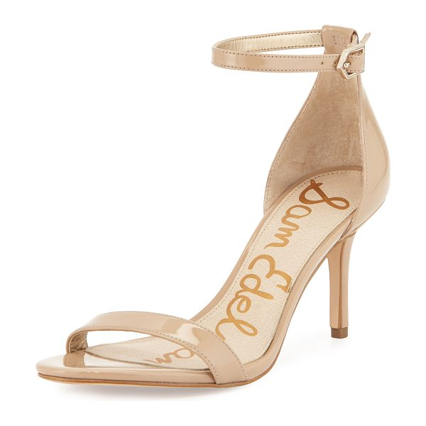Sam Edelman Patti patent naked sandal in nude