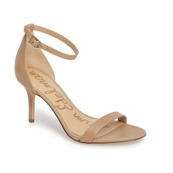 Sam Edelman patti strappy sandal in classic nude leather - Slender leather or suede straps bridge the toe and...