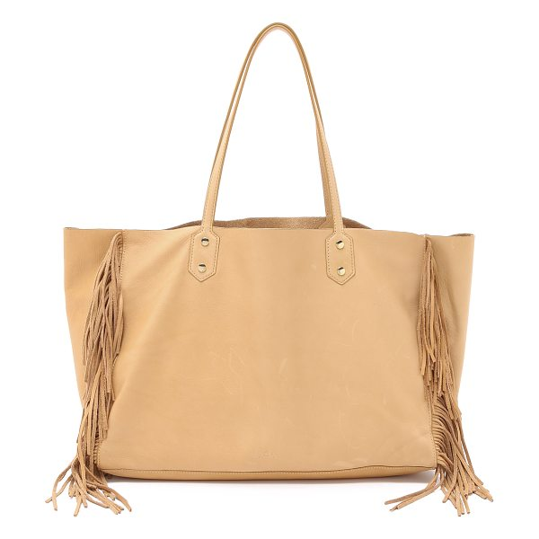 Sam Edelman Payton tote in camel - Fringe accents the sides of this slouchy Sam Edelman...