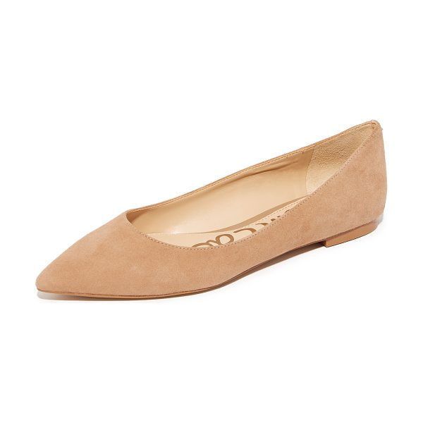 Sam Edelman rae suede flats in camel - Suede Sam Edelman flats styled with a pointed toe. A...