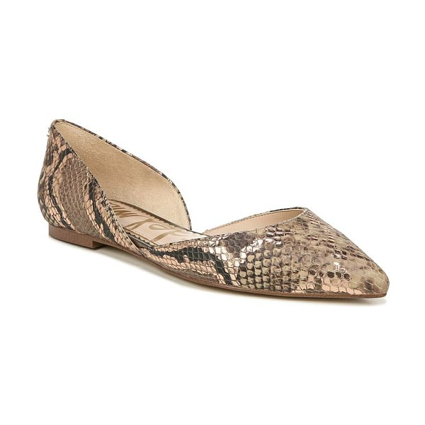 Sam Edelman rodney pointy toe d'orsay flat in brown