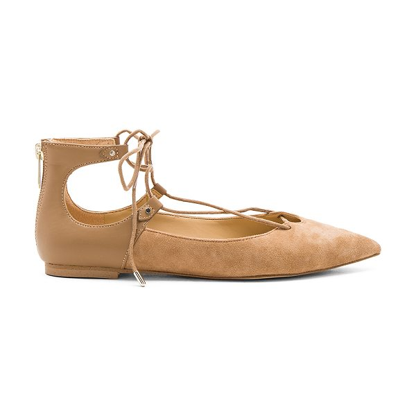 Sam Edelman Rosie Flat in tan - Suede and faux leather upper with man made sole. Lace-up...