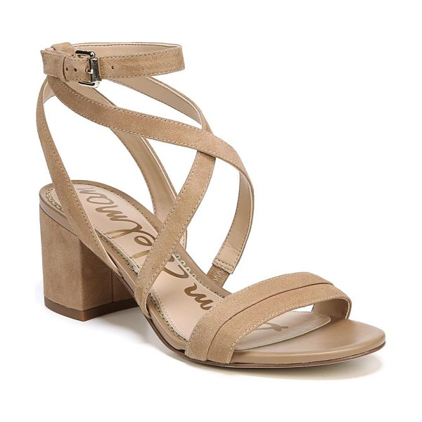 Sam Edelman sammy strappy suede sandals in golden caramel