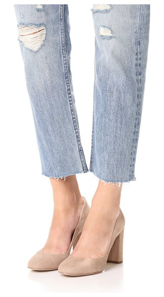 Sam Edelman stillson pumps in oatmeal - Classic Sam Edelman pumps with suede uppers and a...
