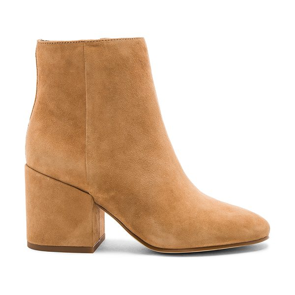Sam Edelman Taye Bootie in tan - Suede upper with man made sole. Side zip closure. Heel...