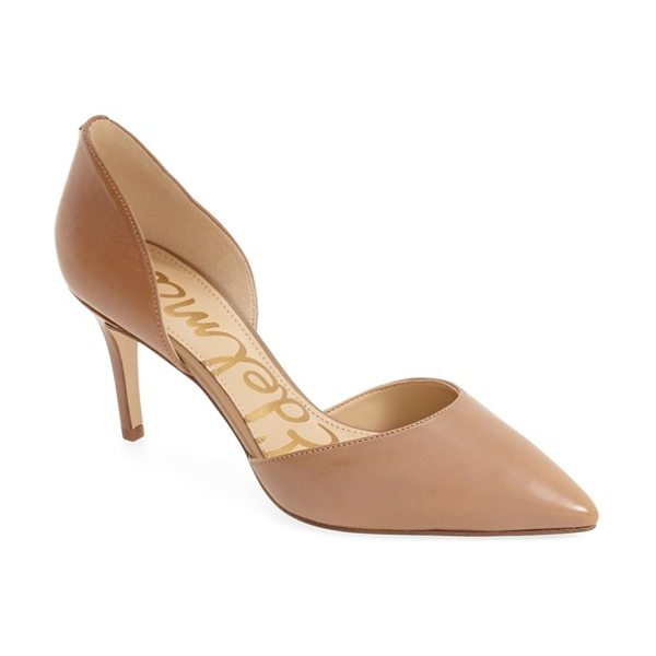 Sam Edelman 'telsa' d'orsay pointy toe pump in golden caramel - This essential pump is crafted in a trend-right d'Orsay...