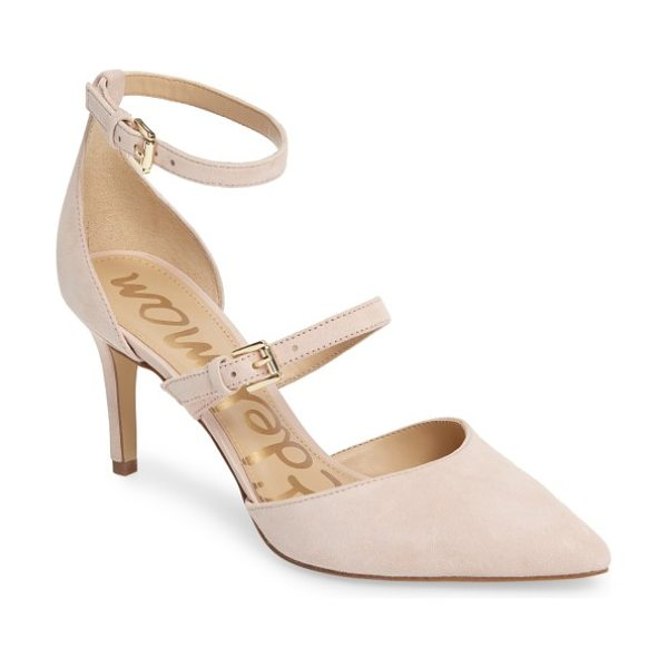Sam Edelman 'thea' strappy pump in primrose suede - Simple and chic, this pointy-toe pump in lush suede gets...