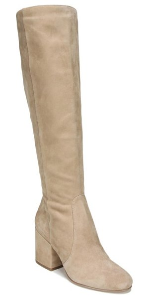 SAM EDELMAN thora knee high boot - A chunky, wrapped heel lifts a leg-slimming, knee-high...