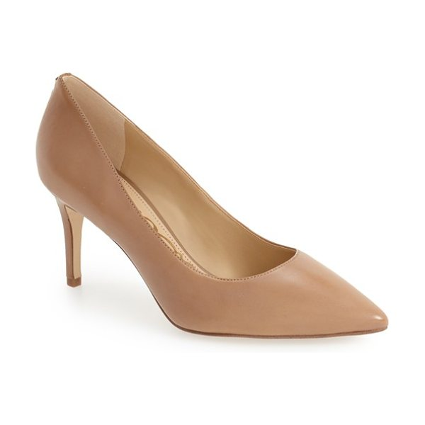 SAM EDELMAN 'tristan' pointy toe pump in golden caramel nappa leather - A graceful pointed toe adds a leg-lengthening visual...