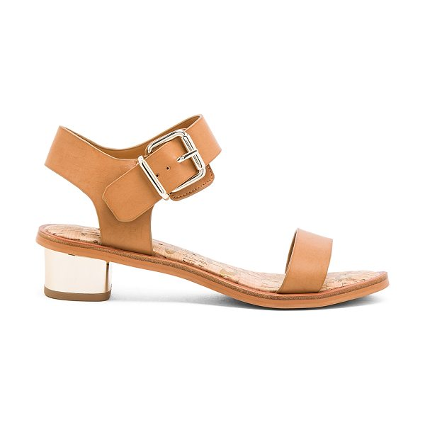Sam Edelman Trixie sandal in tan - Man made upper and sole. Ankle strap with buckle...