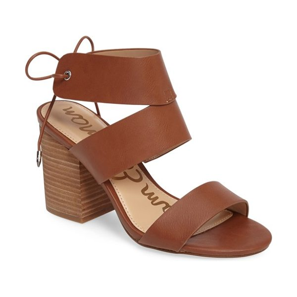 SAM EDELMAN valerie block heel sandal - A supersized, chunky stacked heel elevates a breezy...