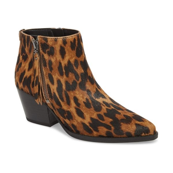 Sam Edelman walden genuine calf hair bootie in brown - An abbreviated ankle boot with a classic block heel...