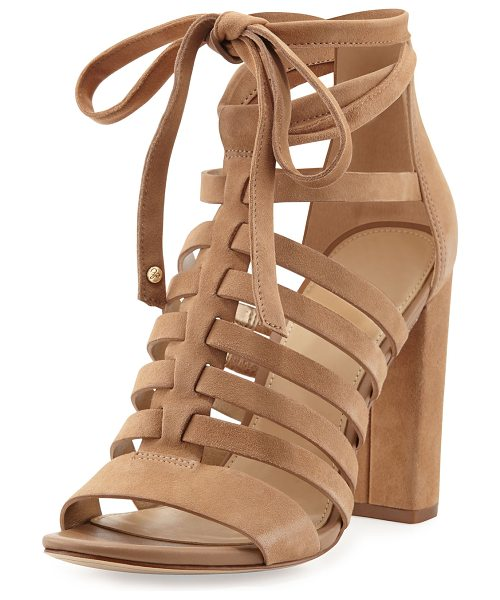 Sam Edelman Yarina Caged Suede Sandal in camel